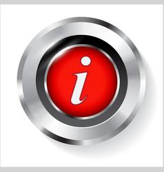 information sign info circle metal symbol vector image