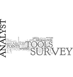 Java survey analyst tools text background word vector