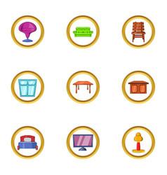 modern furniture icon set cartoon style vector image vector image