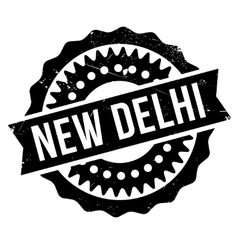 New Delhi rubber grunge vector image