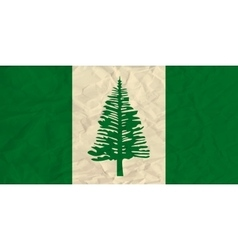 Norfolk paper flag vector image vector image