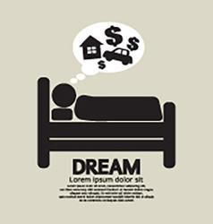 Sleep person symbol vector