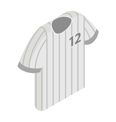 Stripy baseball t-shirt with number icon vector image
