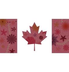 Vintage Canada flag 3 vector image