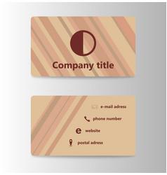 Visit card creative template vector
