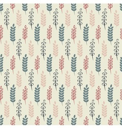 Herb summer pattern vector