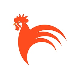 Red rooster Symbol of New Year 2017 vector image
