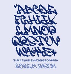 Graffiti alphabet- hand written - font vector