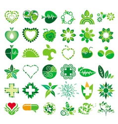 Collection of logos health vector