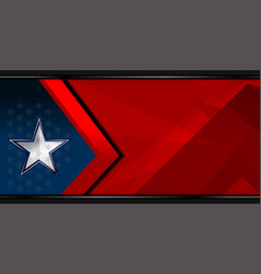 American star template background vector