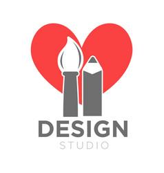 Design studio icon template of paintbrush vector