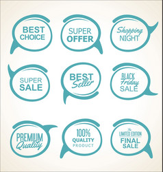 Sale and quality sticker collection vector