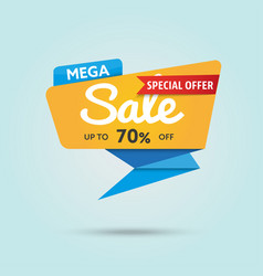 Mega sale - modern of discount vector