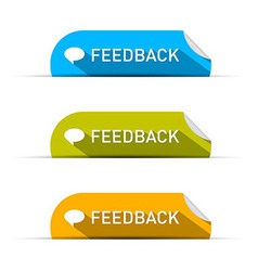 Feedback icons set isolated on white background vector