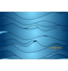 Bright wavy design vector image