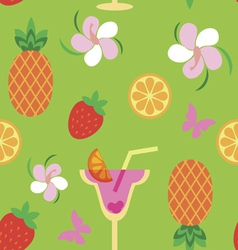Seamless print with tropical sweets vector