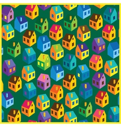 Summer houses pattern vector