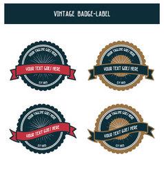 Vintage badge-label vector image