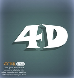 4d sign icon 4d-new technology symbol on the vector