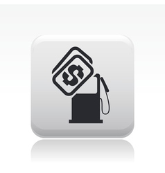 Gasoline price icon vector