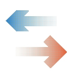 Halftone arrow icon vector
