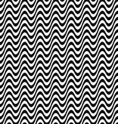 Seamless black and white wave pattern vector