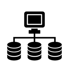 Dataset or network icon vector