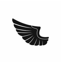 Wing icon in simple style vector