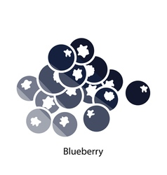 Blueberry icon vector
