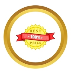 Best price rosette icon vector