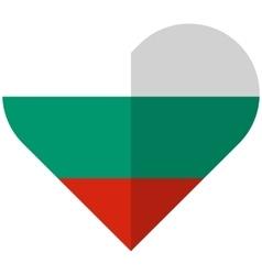 Bulgaria flat heart flag vector image vector image
