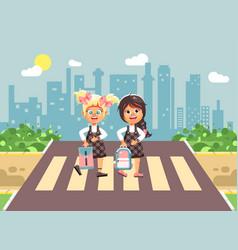 cartoon characters children vector image vector image