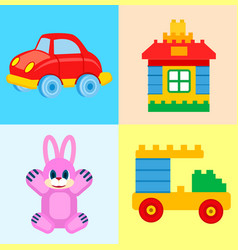 childrens toys for play time set vector image vector image