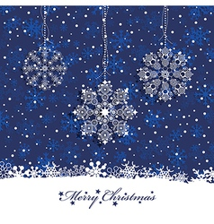 christmas snowflake decoration vector image vector image