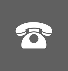 classic phone icon on a dark background vector image