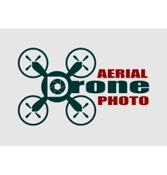 Drone icon aerial photo text aperture symbol vector