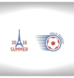 Emblems for euro 2016 vector image