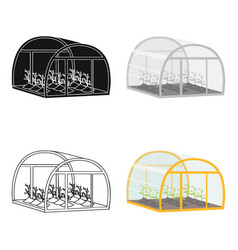 Greenhouse single icon in cartoon style vector