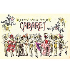 happy new year cabaret vector image