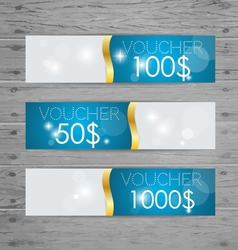 Holiday Gift Coupons with ribbons vector image vector image
