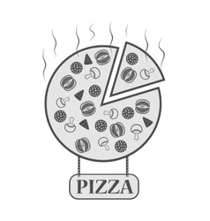 icon for pizzeria vector image vector image