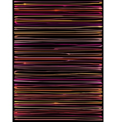 Liquid organic orange pink lines pattern vector