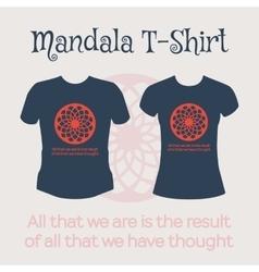 Mandala t-shirt vector
