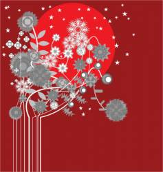 midnight flowers vector image vector image