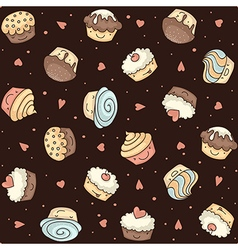 Muffin seamless dark vector
