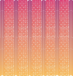 Pink and orange weave vector