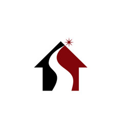 real estate solutions initial s vector image