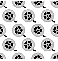 reel with film pattern vector image vector image