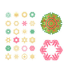 Set of snowflakes hand drawn stars vector