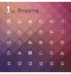 Shopping Line Icons vector image